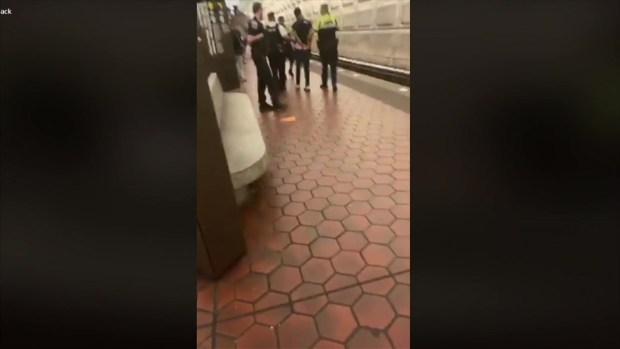 Raw Video: Metro Transit Police Officer Uses Taser on Man