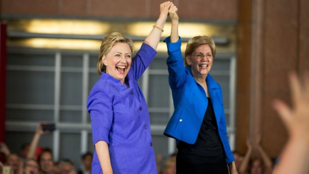 [NATL] Warren, Clinton Team Up on Ohio Campaign Stage