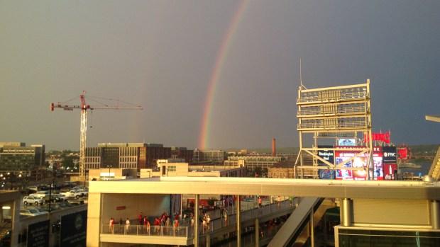 Viewer Photos: Rainbow Over DC Area