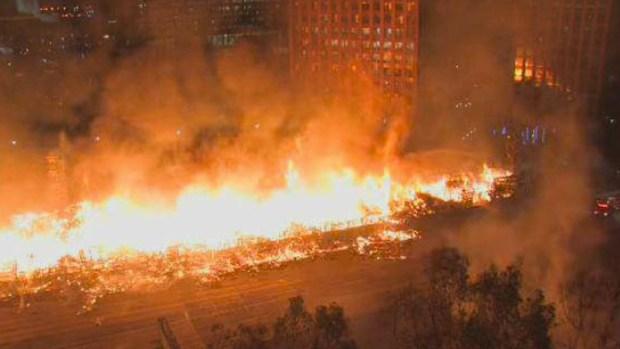 PHOTOS: Massive Da Vinci Fire