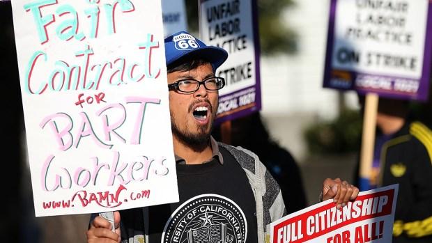 BART Unions Strike