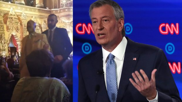 [NATL-NY] Protesters Chant 'Fire Pantaleo' at Democratic Presidential Debate