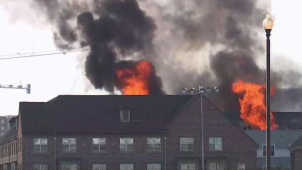 Photos: Fire Erupts at Seniors Home Near Navy Yard