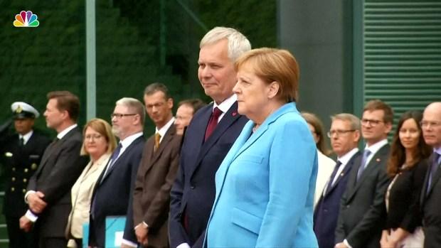 [NATL] Angela Merkel Seen Shaking For 3rd Time