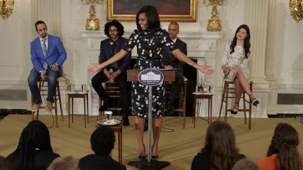 PHOTOS: 'Hamilton' Cast Meets Obamas, Performs at White House