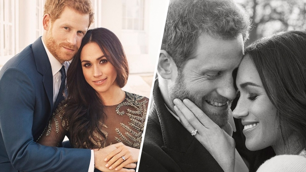 Prince Harry & Meghan Markle Look ROYALLY In Love In New Engagement Snaps!