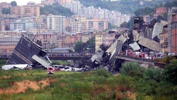 [NATL] Top News Photos: Violent Storm Destroys Bridge in Italy, Killing at Least 11