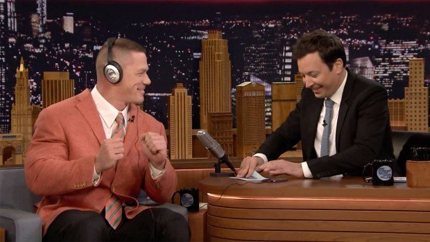 [NATL] 'Tonight Show': Whisper Challenge With John Cena