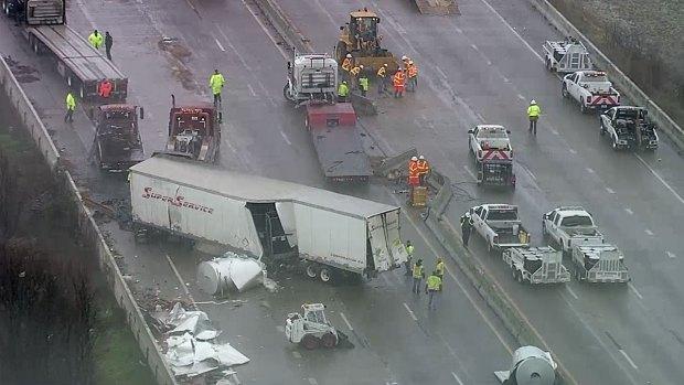 [DFW] Massive Crash Closes I-30 Over Lake Ray Hubbard