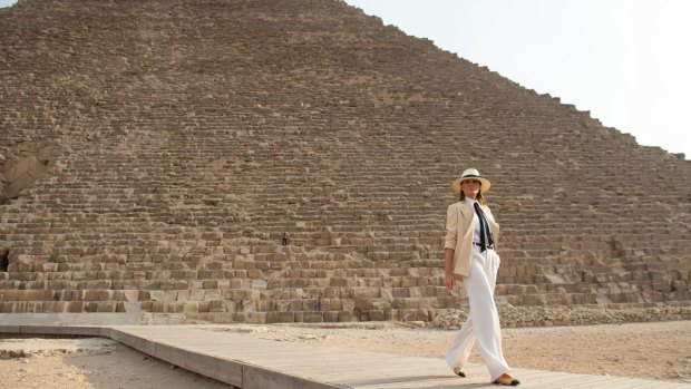 First Lady Melania Trump Takes First Solo International Trip