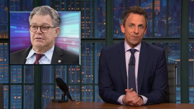 [NATL] 'Late Night': A Closer Look at Sen. Al Franken's Resignation