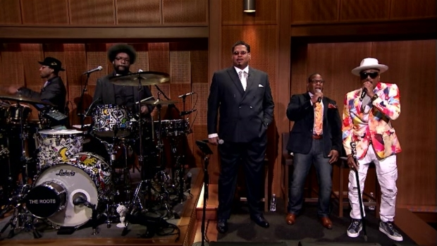 [NATL] 'Tonight Show' Hashtags on Spring Raps With Sugarhill Gang and The Roots