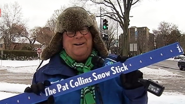 Pat Collins Breaks Out the Snow Stick