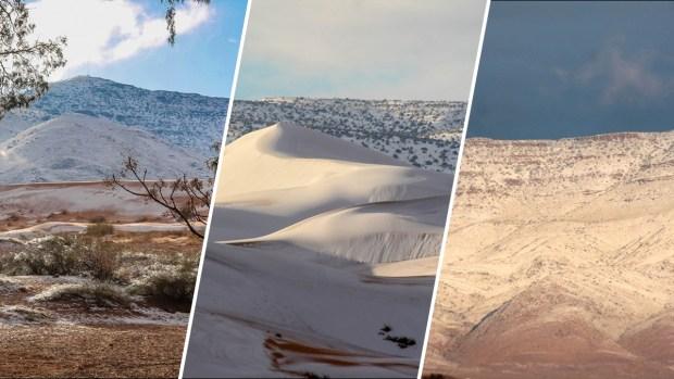 [NATL] Snow Blankets the Sahara Desert, The Hottest Desert in the World