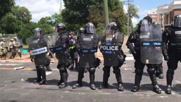 Virginia State Police Clear Charlottesville Park After Rally Clash