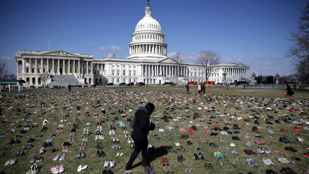 Thousands of Shoes on Capitol Lawn as Gun Violence Memorial