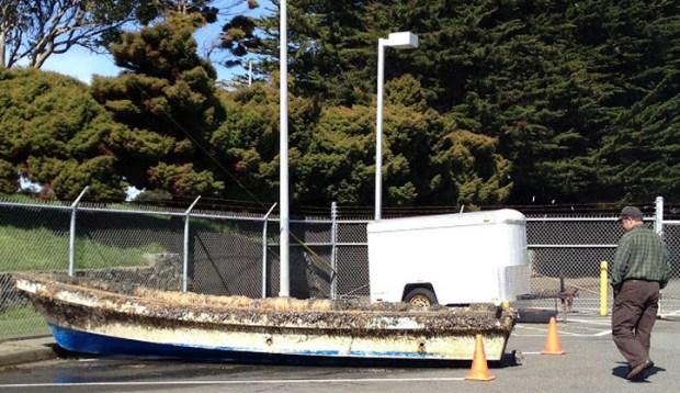 2011 Japanese Tsunami Boat Washes Ashore in Northern California