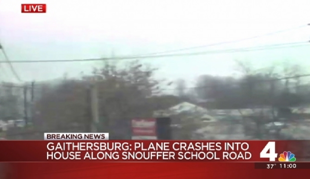 Plane Crashes Into Gaithersburg Homes