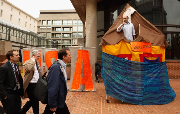 Protesters Rally Against Underwater Mortgages