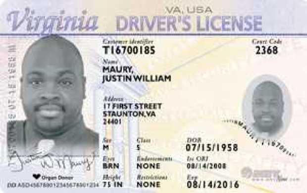 New Virginia Driver's Licenses Lack Pizzazz