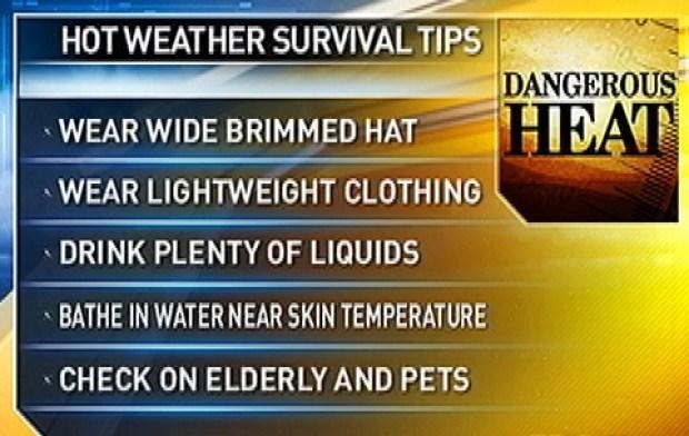 [DC] Heat Index Near 100 Degrees Wednesday; Even Hotter Thursday