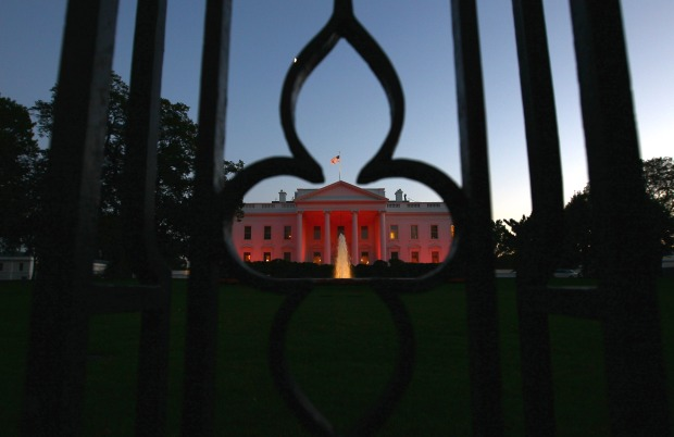 White House Turns Pink