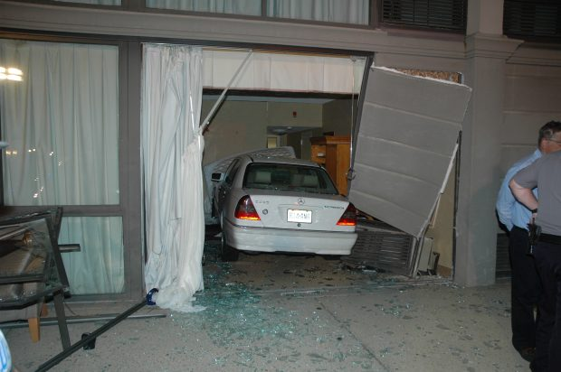 Car Crashes Into Hotel Room