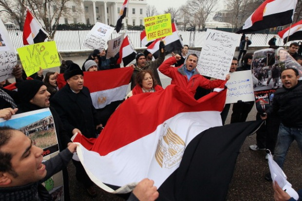 Egyptian-Americans Protests at White House