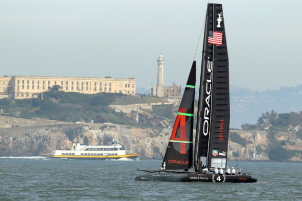 Oracle Racing Team Hits the Bay