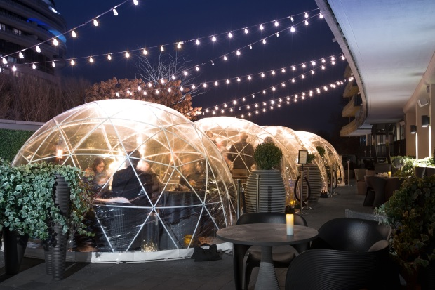 You'll Melt for The Watergate's Cozy Rooftop Igloos