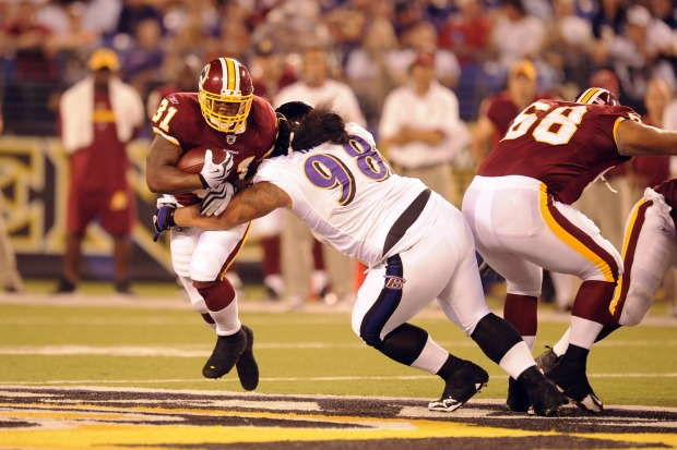 Images From Redskins-Ravens Game