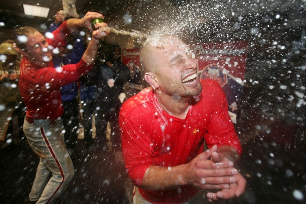 Images: Phillies Celebrate NLDS Win