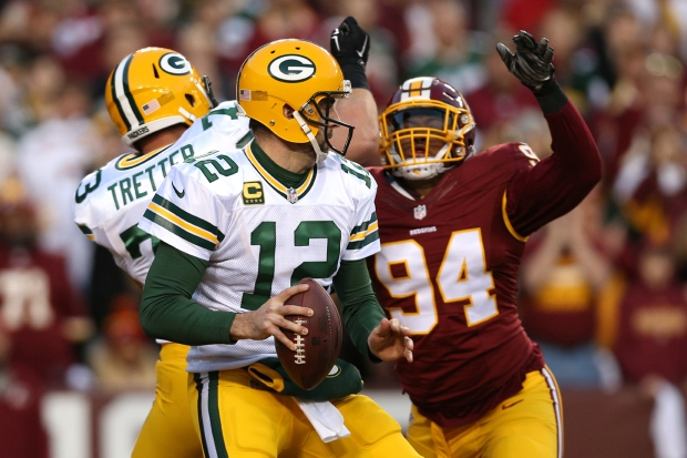 Images From Redskins-Packers Wild Card Game