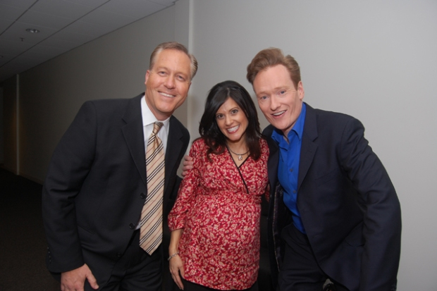 Conan Hangs out with the Little People at NBC