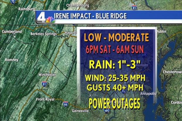 Latest Irene Weather Maps