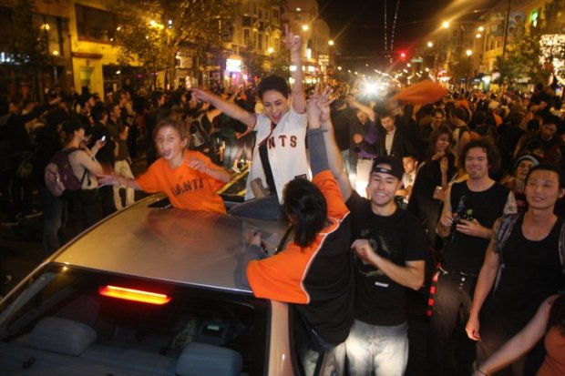 San Francisco Fans Celebrate World Series Victory