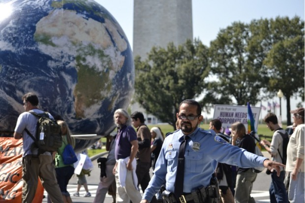 Protesters March Against War, Greed and Keystone XL Pipeline