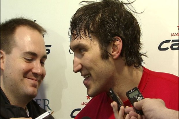 [DC] Ovechkin Talks Playoffs After Practice