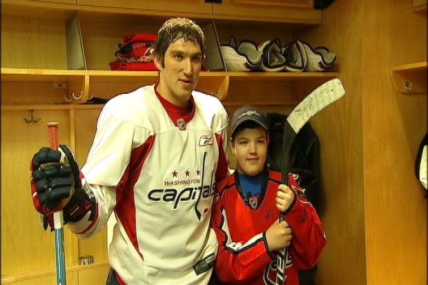 [DC] Make-a-Wish Kid Meets Ovechkin, Capitals
