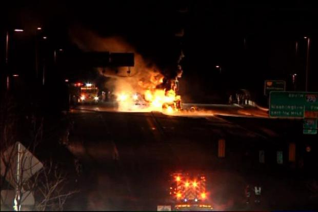 Fiery Crash Over I-270