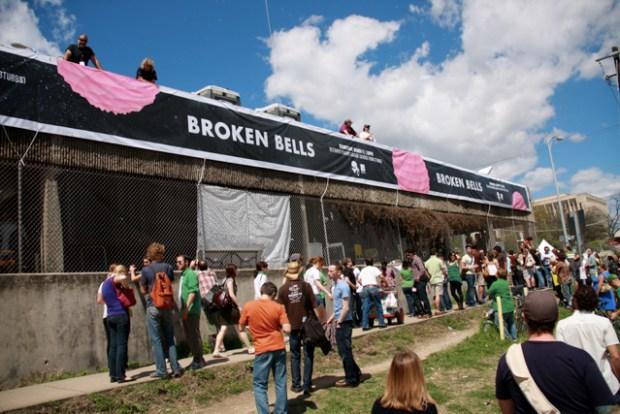 Screen Grabs: Broken Bells Pop Up in a Parking Garage