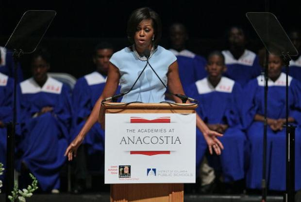 First Lady Addresses Anacostia High Class of 2010