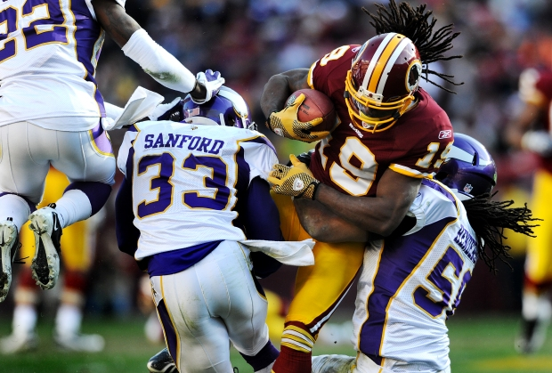 Images from Redskins-Vikings Game