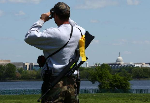 Gun Rights Activists Bring Weapons to Virginia Rally