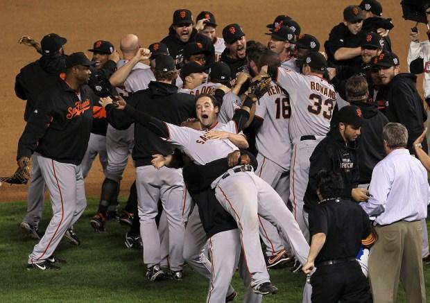 Giants Celebrate World Series Victory