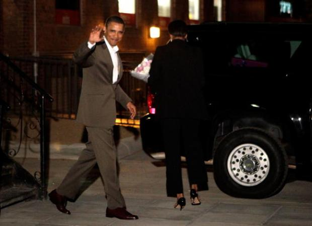 Obamas Dine Out in Dupont Circle