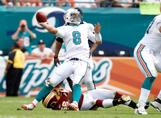 Images from Redskins-Dolphins Game