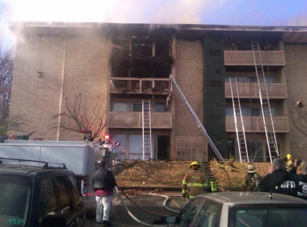 Apartment Fire in Prince George's Co.