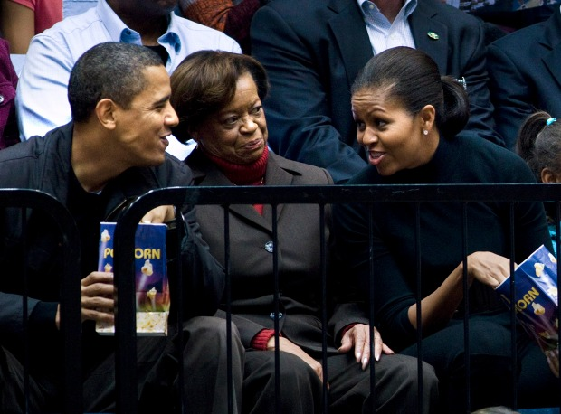 The Obamas' Courtside Seats