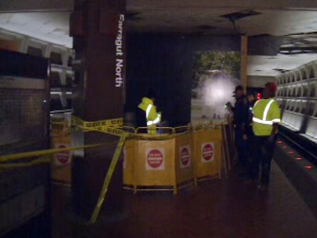 [DC] Ceiling Collapse Showers Debris in Metro Station